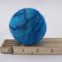Load image into Gallery viewer, Single Merino Wool Felted Soap Ball - Ocean Blue