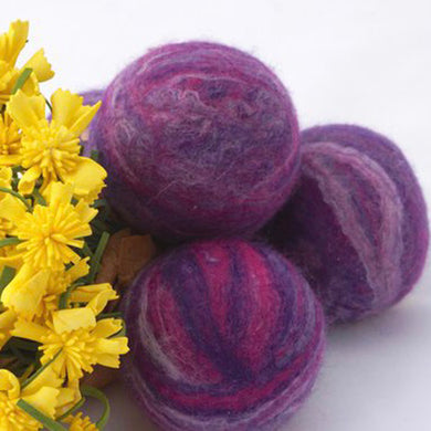 Single Merino Wool Felted Soap Ball - Purple
