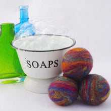 Load image into Gallery viewer, Single Merino Wool Felted Soap Ball - Rainbow