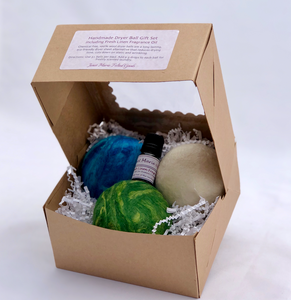 Wool dryer ball gift set