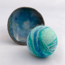 Load image into Gallery viewer, Single Merino Wool Felted Soap Ball - Seaglass