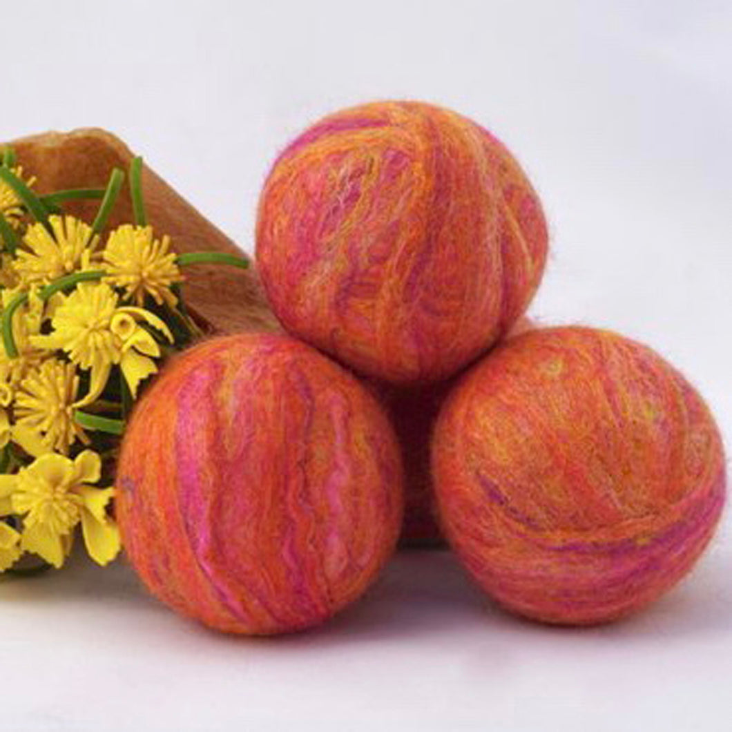 Single Merino Wool Felted Soap Ball - Sunset