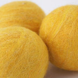 Single Merino Wool Felted Soap Ball - Yellow