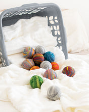 Load image into Gallery viewer, Single Merino Wool Felted Dryer Ball - Ocean Blue