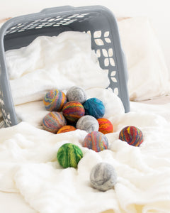 Single Merino Wool Felted Dryer Ball - White