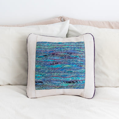Felted Art Yarn Pillow Cover, 18 x 18
