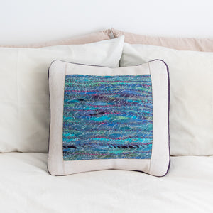 Felted Art Yarn Pillow Cover, 18 x 18""