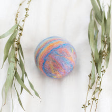 Load image into Gallery viewer, Single Merino Wool Felted Soap Ball - Pastel Rainbow