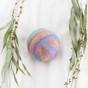 Single Merino Wool Felted Soap Ball - Pastel Rainbow