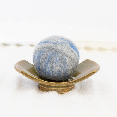 Single Merino Wool Felted Soap Ball - Light Denim