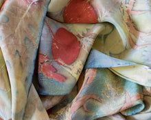 Load image into Gallery viewer, Botanical Dyed Stonewashed Silk Scarf, One of a Kind