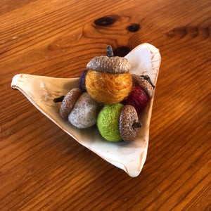 Boxed Natural Colored Acorn Potpourri Gift Set