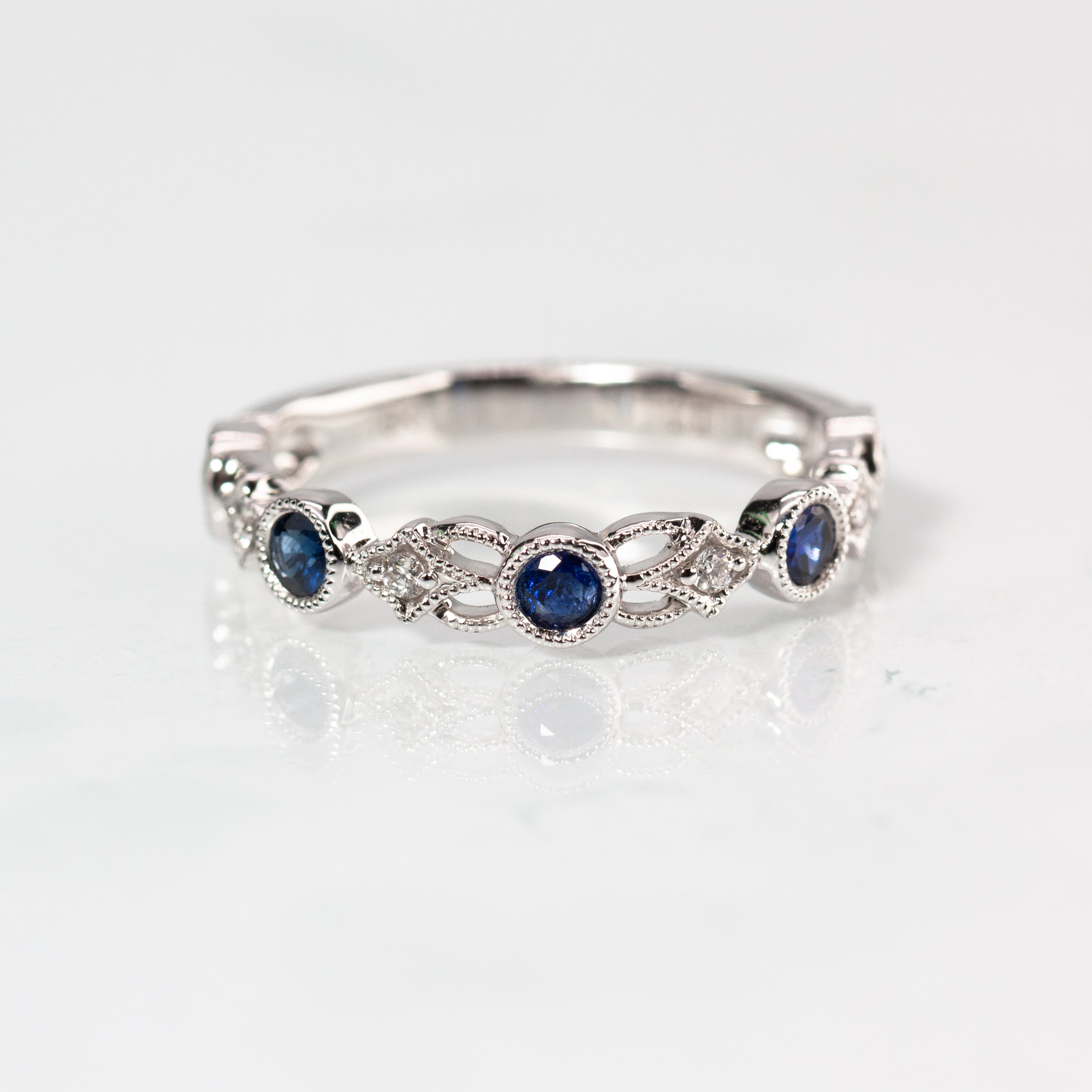 It is just a picture of Intricate Sapphire & Diamond Band