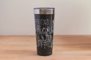 SketchyMedical Black/White Tumbler (20 oz)