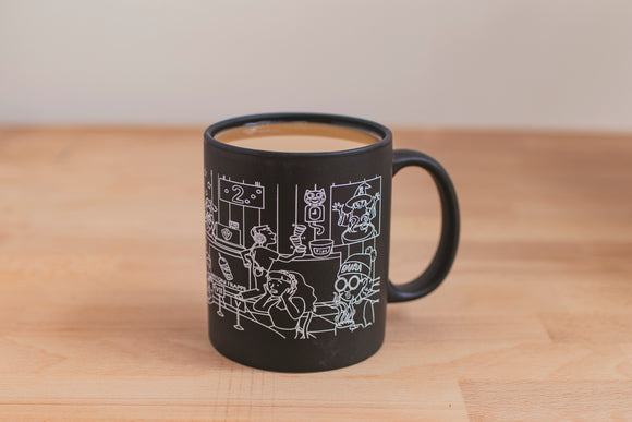 SketchyMedical Black/White Mug (12oz)