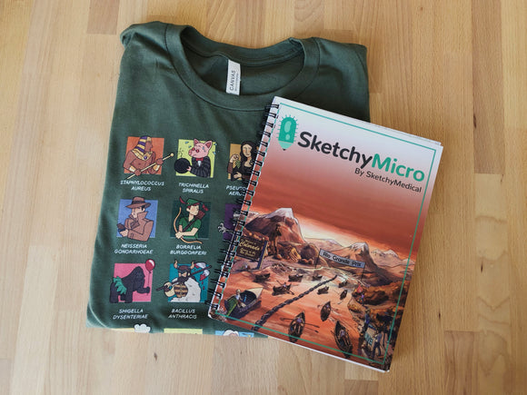 SketchyMicro Cotton T-shirt & Workbook Bundle