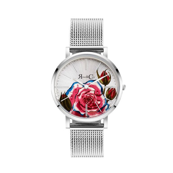 ART SERIES PINK ROSE ULTRA SLIM 34MM シルバーメッシュ - Rose&Coy Japan