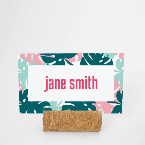 ALOHA Printable Flat Name or Food Card, Digital Download, Editable, Palm