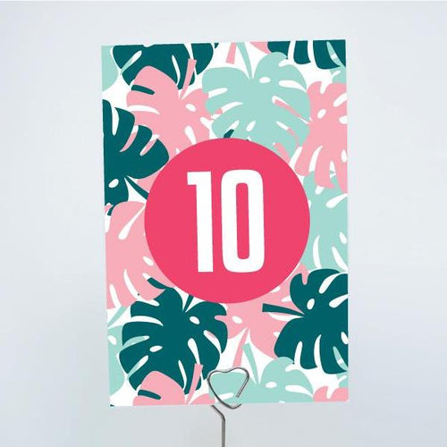 ALOHA Printable 4x6 Table Numbers, 1 to 15 Tables, Digital Download, Palms