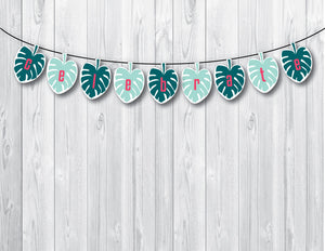 ALOHA Printable Palm Banner, Digital Download