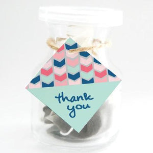"BOHO Printable 1.5"" Diamond Thank You Tag, Digital Download, Chevron"
