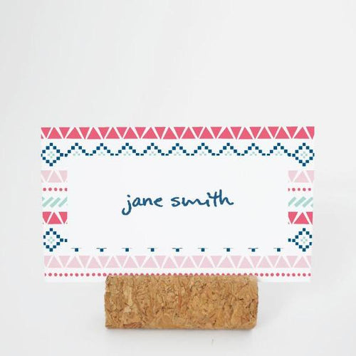 BOHO Printable Flat Name or Food Card, Digital Download, Editable, Boho