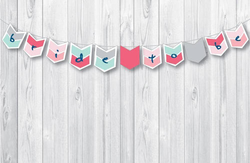 BOHO Printable Chevron Banner, Digital Download