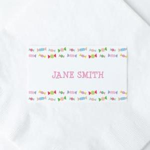 CANDY Printable Flat Name or Food Card, Digital Download, Editable, Candy