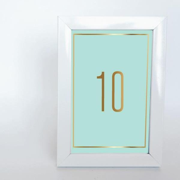 COLOUR BLOCK Printable 4x6 Table Numbers, 1 to 15 Tables, Digital ...