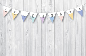 DIPPED Printable Triangle Banner, Digital Download