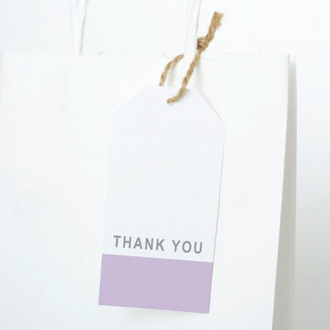 DIPPED Printable Thank You Gift Tag, Digital Download, All Colours