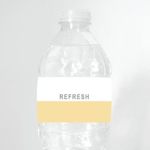 DIPPED Printable Water Bottle Label, Digital Download, All Colours