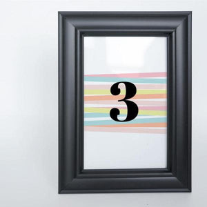 FUN STRIPES Printable 4x6 Table Numbers, 1 to 15 Tables, Digital Download, Wide