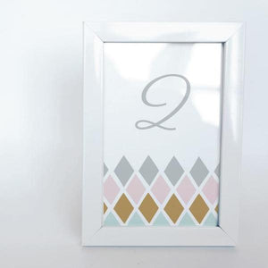 GEO CHIC Printable 4x6 Table Numbers, 1 to 15 Tables, Digital Download, Diamond