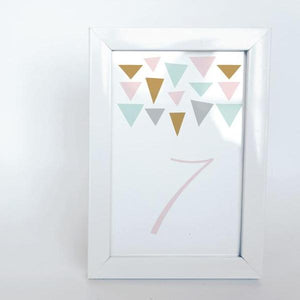 GEO CHIC Printable 4x6 Table Numbers, 1 to 15 Tables, Digital Download, Triangle