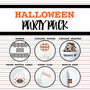 HALLOWEEN Theme Printable Party Pack, Party Decorations Kit
