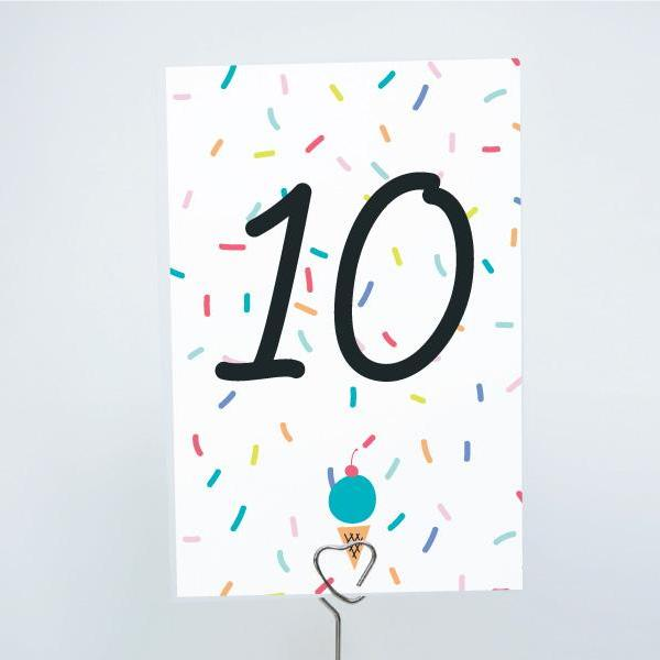 ice cream printable 4x6 table numbers 1 to 15 tables digital