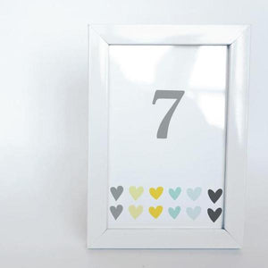 LOVE Printable 4x6 Table Numbers, 1 to 15 Tables, Digital Download, Big Hearts