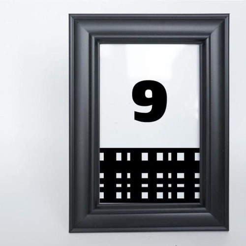 MONOCHROME Printable 4x6 Table Numbers, 1 to 15 Tables, Digital Download, Check
