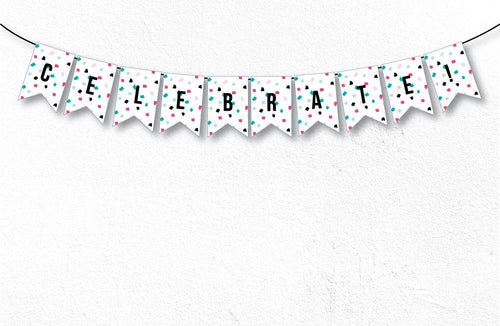 PAINT PARTY Printable Notched Banner, Digital Download
