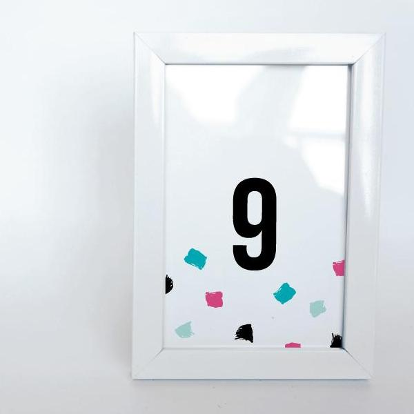 paint party printable 4x6 table numbers 1 to 15 tables digital