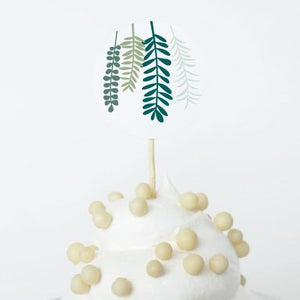 Free Printable Party Decorations, Instant Download, Rustic Garden Cupcake Topper