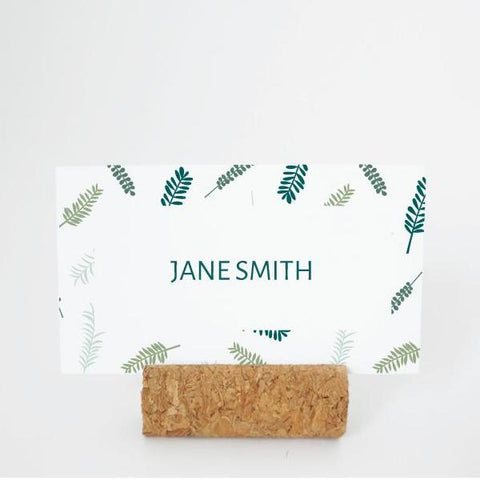 RUSTIC GARDEN Printable Flat Name or Food Card, Digital Download, Editable, Foliage