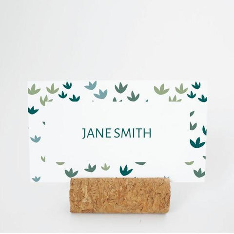 RUSTIC GARDEN Printable Flat Name or Food Card, Digital Download, Editable, Small Leaves
