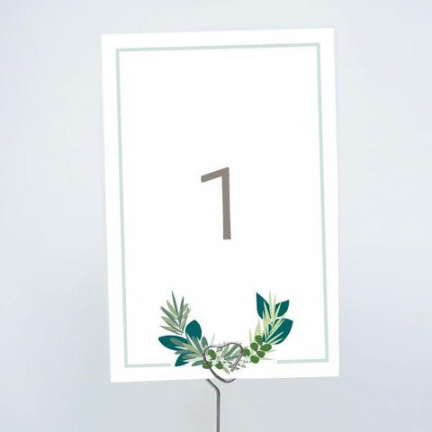 RUSTIC GARDEN Printable 4x6 Table Numbers, 1 to 15 Tables, Digital Download