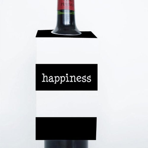 WORDS Printable Wine Tags, Digital Download, Happiness