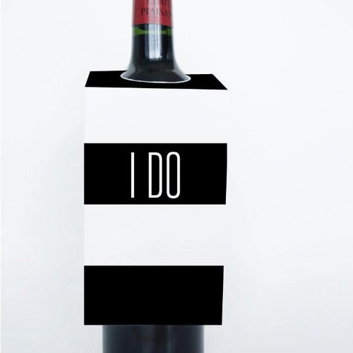 WORDS Printable Wine Tags, Digital Download, I Do