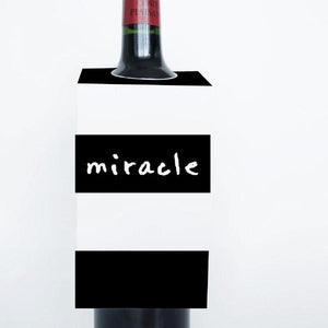 WORDS Printable Wine Tags, Digital Download, Miracle