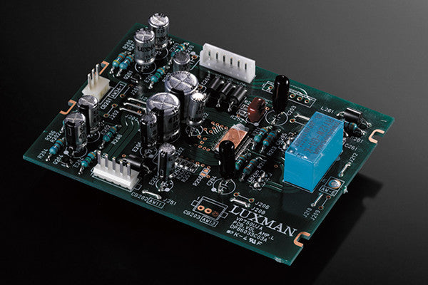 LUXMAN's LECUA computerized attenuator is a highly accurate sound volume adjustment system