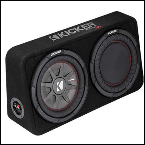 "KICKER 10"" CompRT 4 Ohm Enclosure Audio Design"